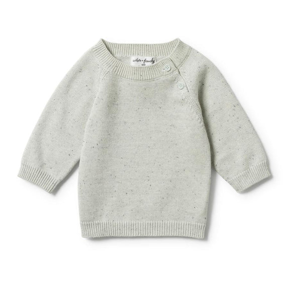 Steel blue speckle knitted jumper Wilson & Frenchy