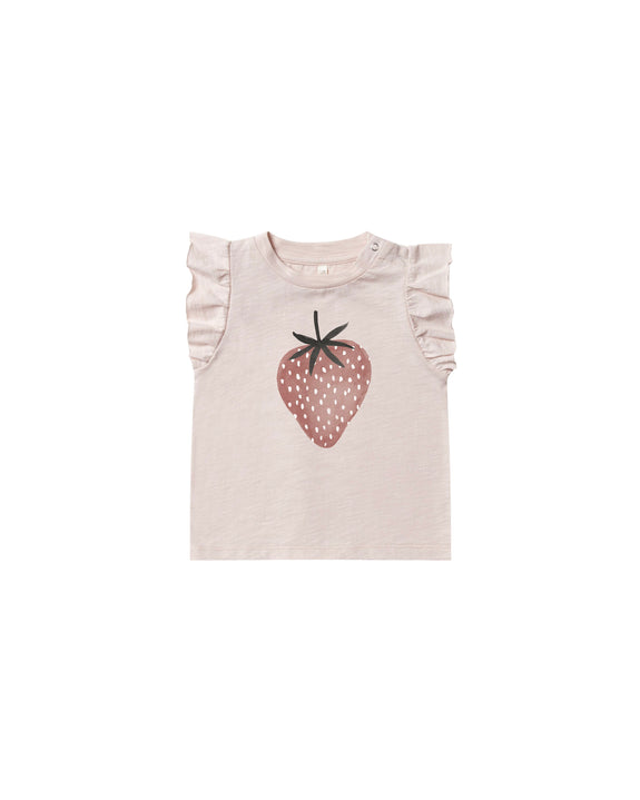 Strawberry ruffled tank top Rylee & Cru