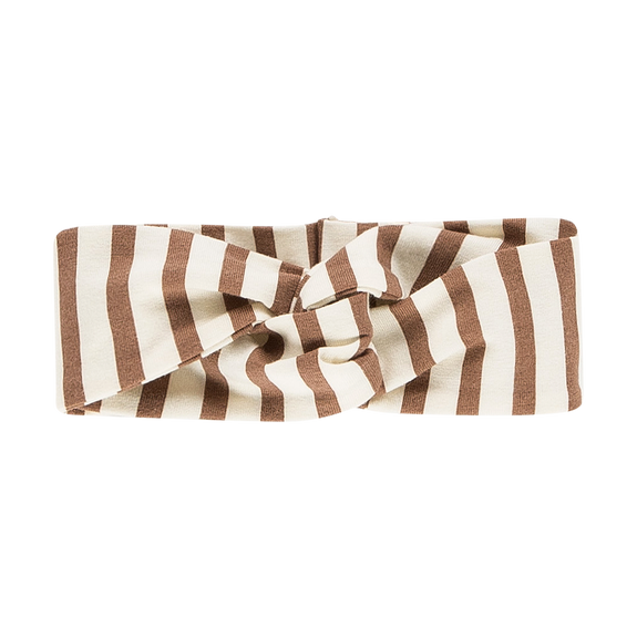 Turban headband toffee stripes House of Jamie