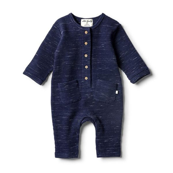 Twighlight waffled blue slouch growsuit Wilson & Frenchy