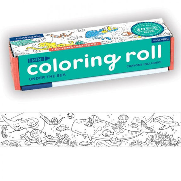 Mini coloring roll under the sea Mudpuppy