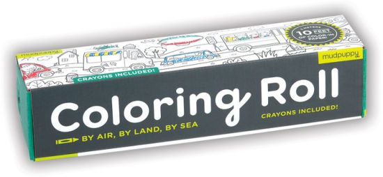 Mini coloring roll by land, by air, by sea Mudpuppy