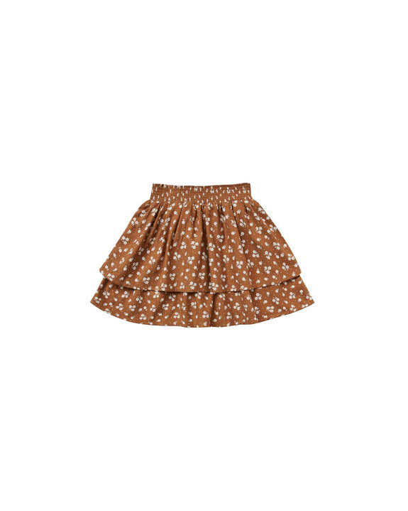 Ditsy tiered mini skirt Rylee & Cru