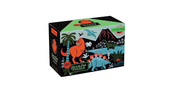 Glow in the dark puzzle dinosaurs Mudpuppy