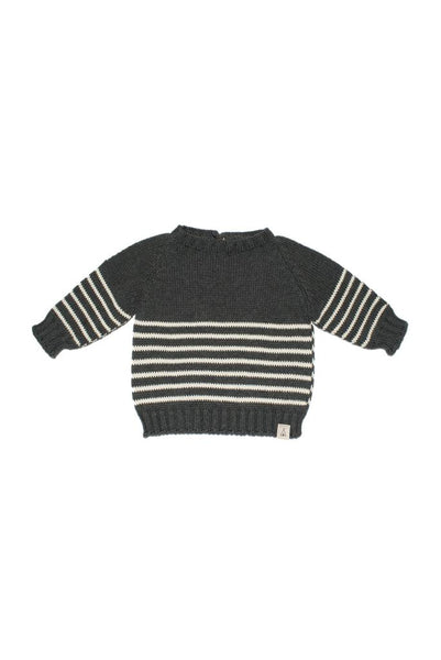 Knit sweater navy grey Dear Mini