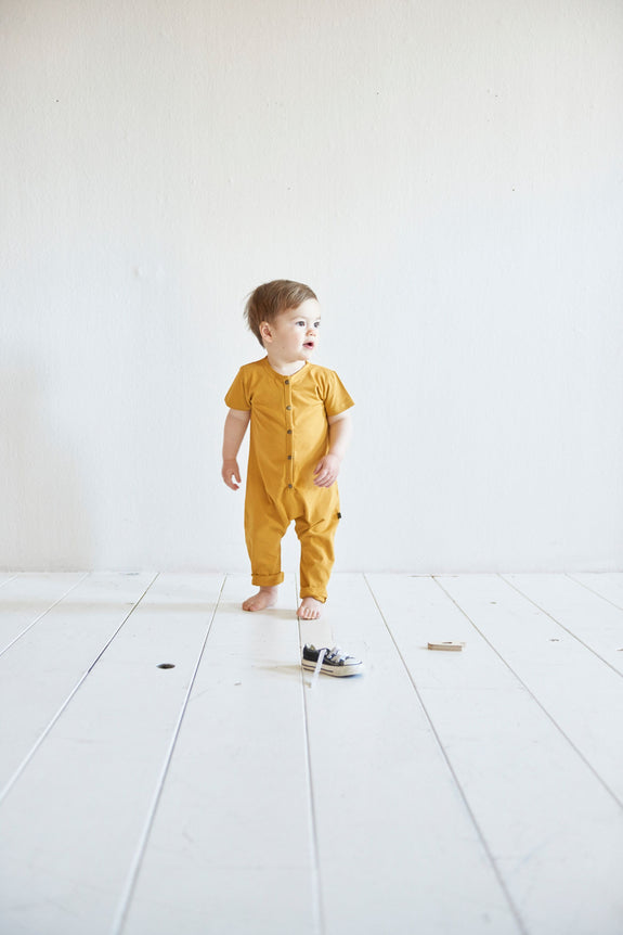 Laidback jumpsuit mustard House of Jamie