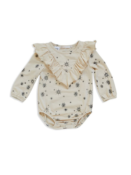 Vanilla star frill romper Mad About Mini