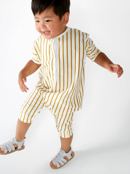 Stripe buttun up jumpsuit Mad About Mini