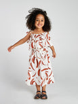 Painted stripe tier midi dress Mad About Mini