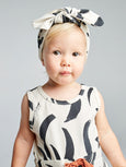 Painted stripe bow headband Mad About Mini