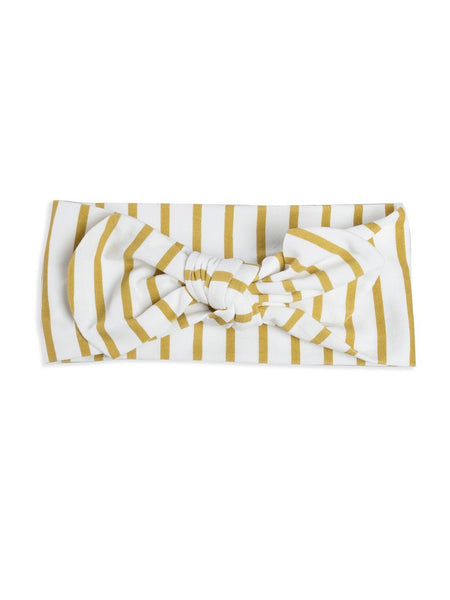 Stripe bow headband Mad About Mini