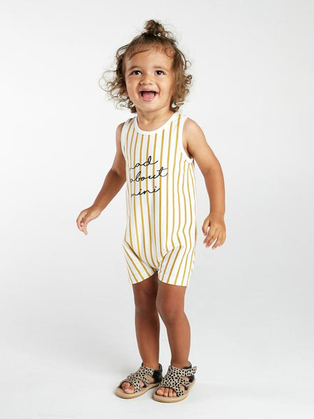 Stripe tank onesie Mad About Mini
