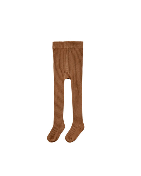 Rib knit tights cinnamon