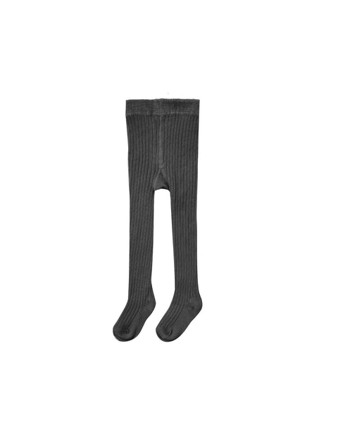 Rib knit tights vintage black Rylee & Cru