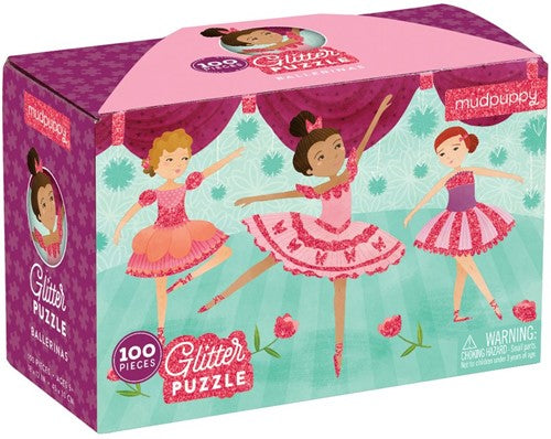 Glitter puzzel ballerina's 100pc Crocodile Creek
