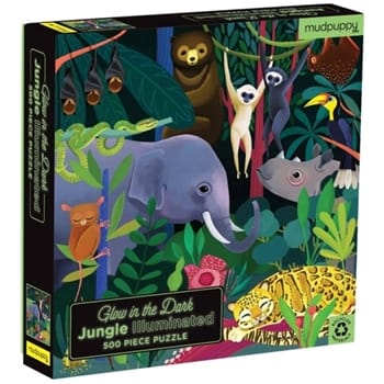 Glow in the dark puzzle jungle illuminated Mudpuppy