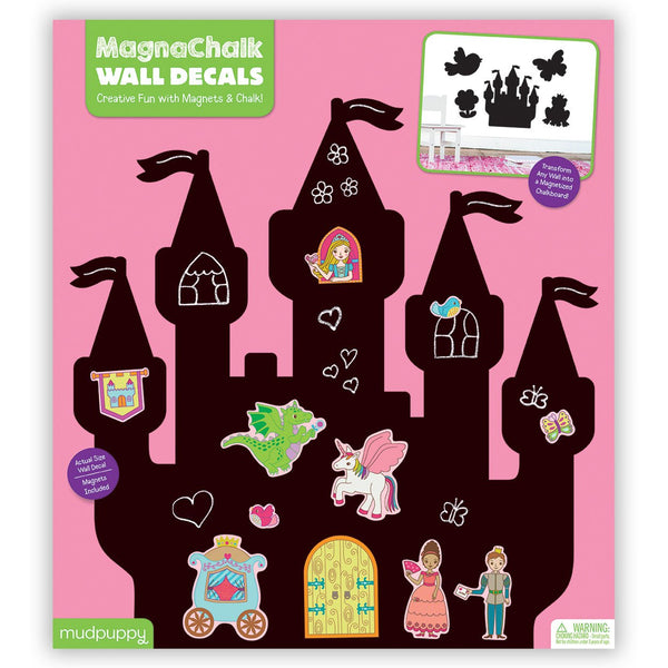 Magnachalk muursticker princess castle Mudpuppy