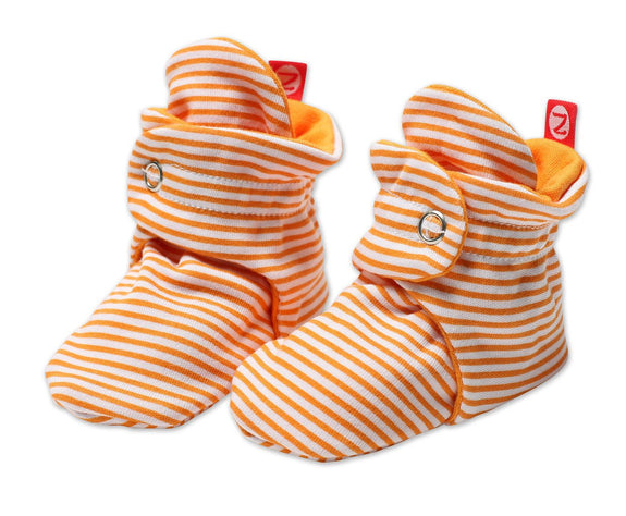 Bootie candy stripe orange Zutano
