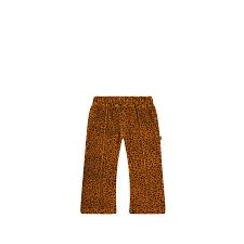 Flared pants golden brown leopard