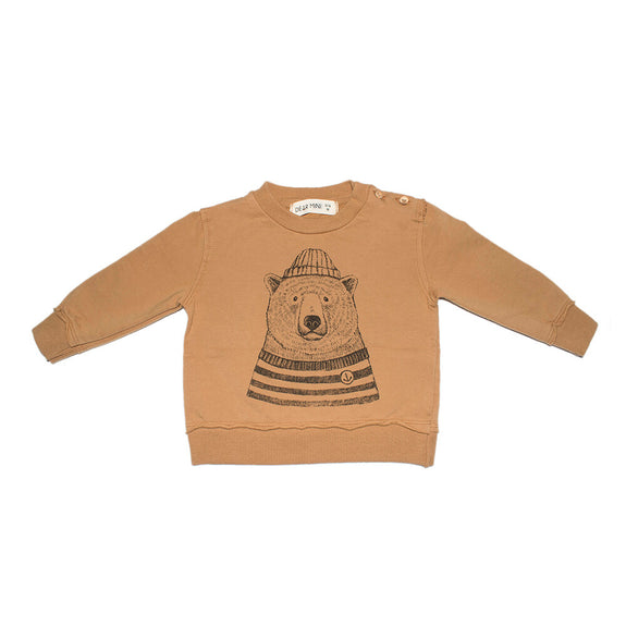 Sweatshirt polar bear ochre Dear Mini
