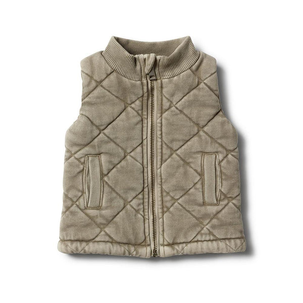 Putty quilted vest Wilson and Frenchy