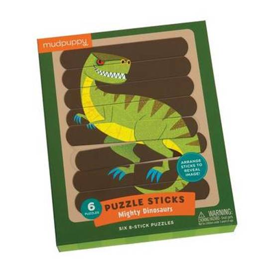Puzzelsticks mighty dinosaurs Mudpuppy
