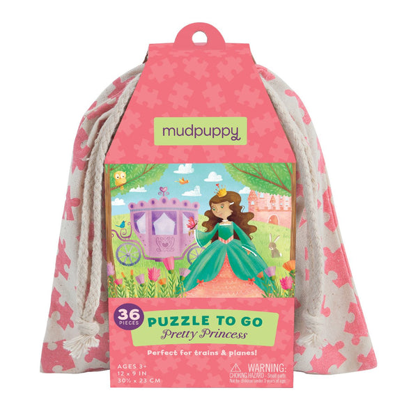 Puzzle to go pretty princess Mudpuppy