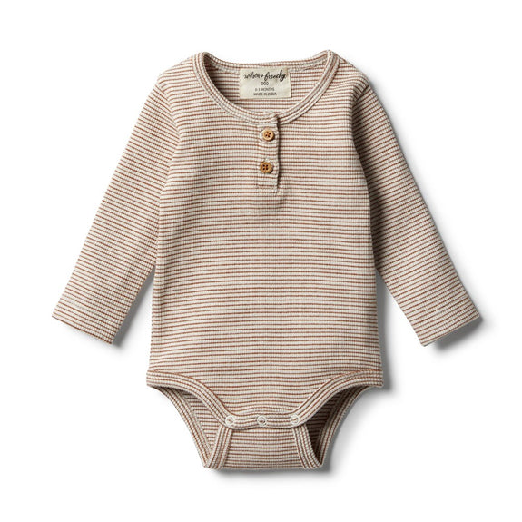 Organic toasted pecan romper Wilson & Frenchy
