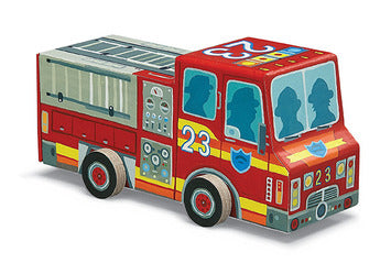 Vehicle firetruck puzzel Crocodile Creek (48 stukjes)