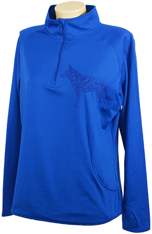 Austrian Cattle Dog|Ladies Moisture Wicking Quarter Zip|Royal - Laserpooch