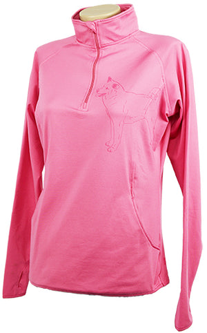 Akita|Ladies Moisture Wicking Quarter Zip|Rose - Laserpooch