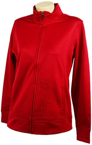 Bullmastiff|Ladies Moisture Wicking Fleece Full Zip|Red - Laserpooch, dogs, laser etched, sportswear, k9, AKC