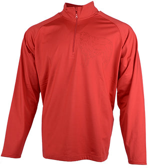 Borzoi|Unisex Moisture Wicking Quarter Zip|Red - Laserpooch