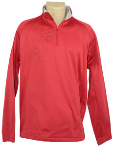 Cairn|Unisex Moisture Wicking Fleece Pullover|Red - Laserpooch, dogs, laser etched, sportswear, k9, AKC