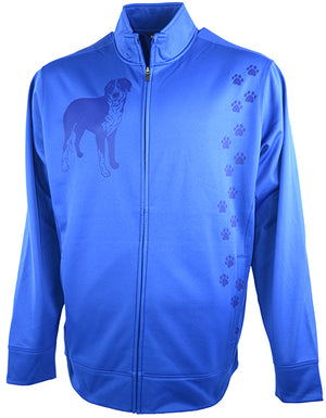 Great Swiss Mountain Dog|Unisex Moisture Wicking Fleece Jacket|Royal - Laserpooch, dogs, laser etched, sportswear, k9, AKC
