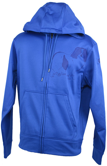 Japanese Chin|Unisex Moisture Wicking Fleece Hooded Jacket|Royal - Laserpooch, dogs, laser etched, sportswear, k9, AKC