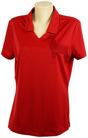 Rottweiller|Ladies Nike Dri-Fit Micro Pique Polo|Red - Laserpooch