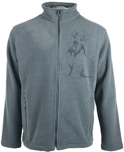 Scotty|Unisex Full Zip Polar Fleece Jacket|Iron Grey - Laserpooch, dogs, laser etched, sportswear, k9, AKC