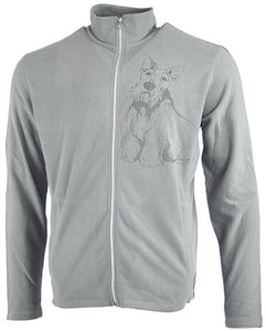 Scotty|Unisex Micro fleece Jacket|Grey - Laserpooch, dogs, laser etched, sportswear, k9, AKC