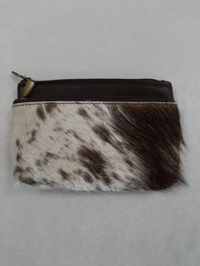 Brown Leather Double zipper Clutch - Tigerlily Gift Store