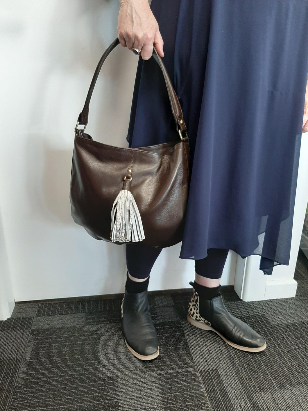 Brown Leather Ladies Bag