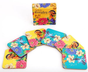 Mexican Floral Coaster Set of 6