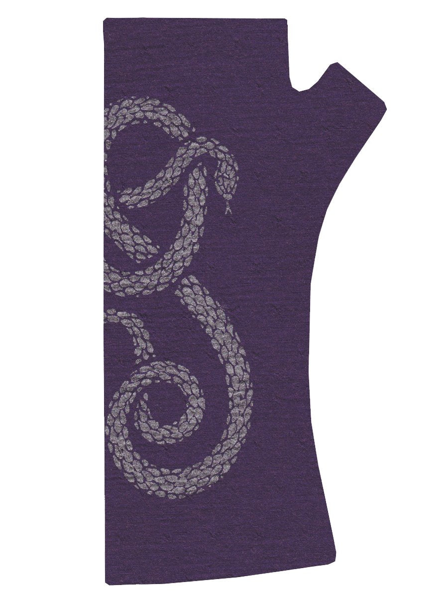 Purple Snake Finger-less Glove
