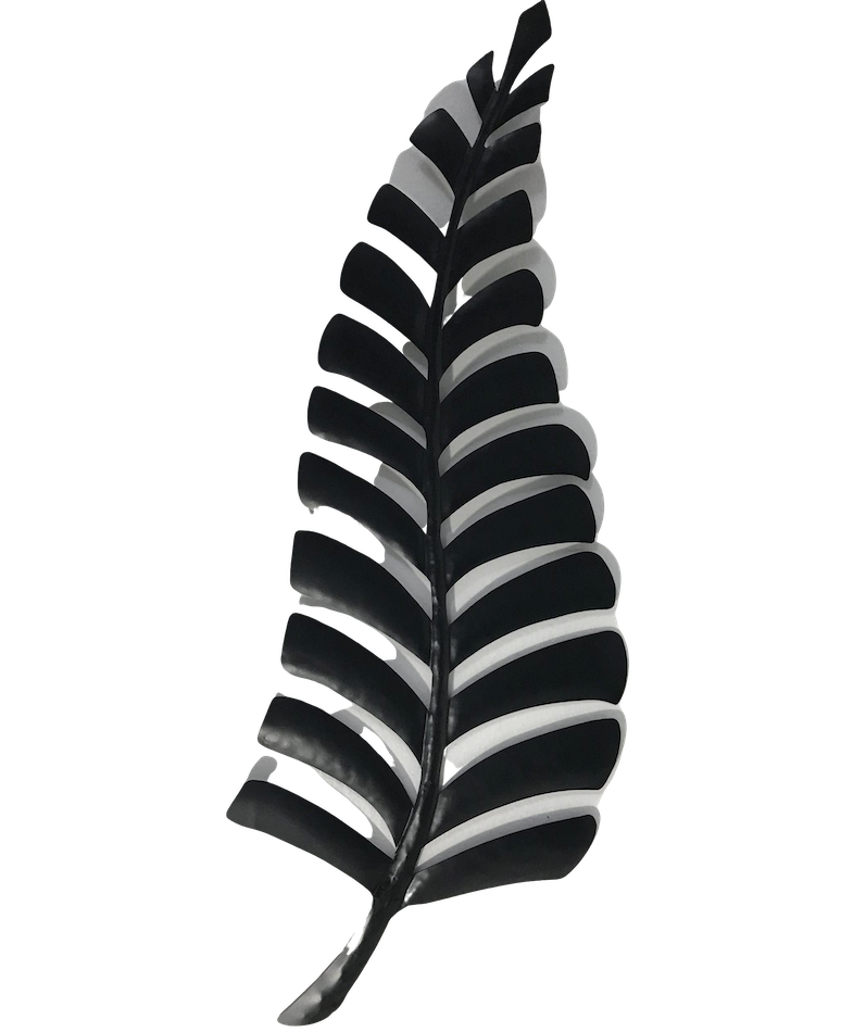 Metal Black Fern Wall Art