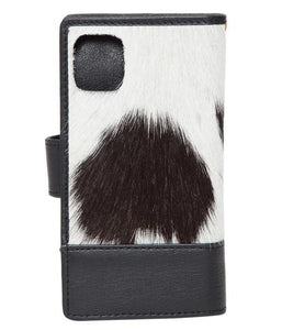 Black and White Cowhide iPhone11 / iPhoneXR Wallet