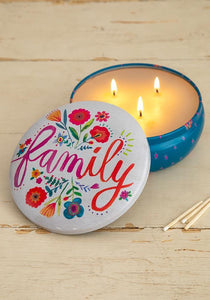 Candle Tin Large Family