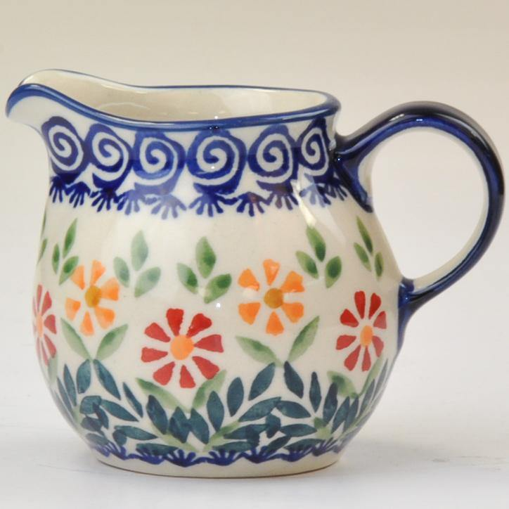 Polish Pottery Creamer .2L Spring Swirl - Tigerlily Gift Store