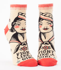 Women's Ankle Socks - Fight Like A Girl