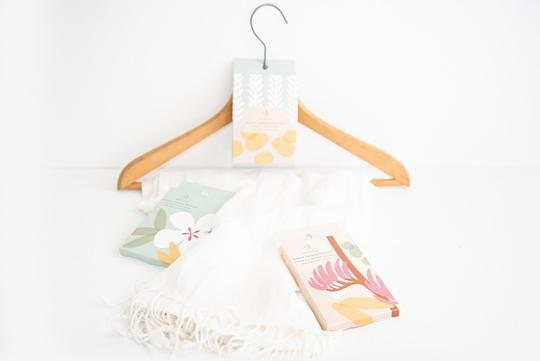 Native NZ design - Wardrobe Sachet -Lavender and Sweet Orange.
