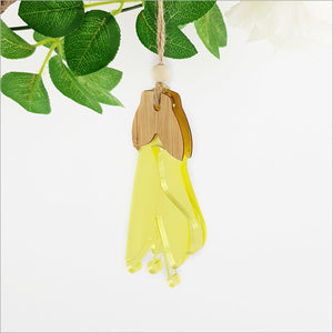 Kowhai Flower Bamboo + Yellow Satin Acrylic